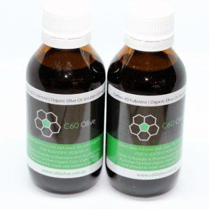 Carbon 60 Olive Oil Australia 2 bottles